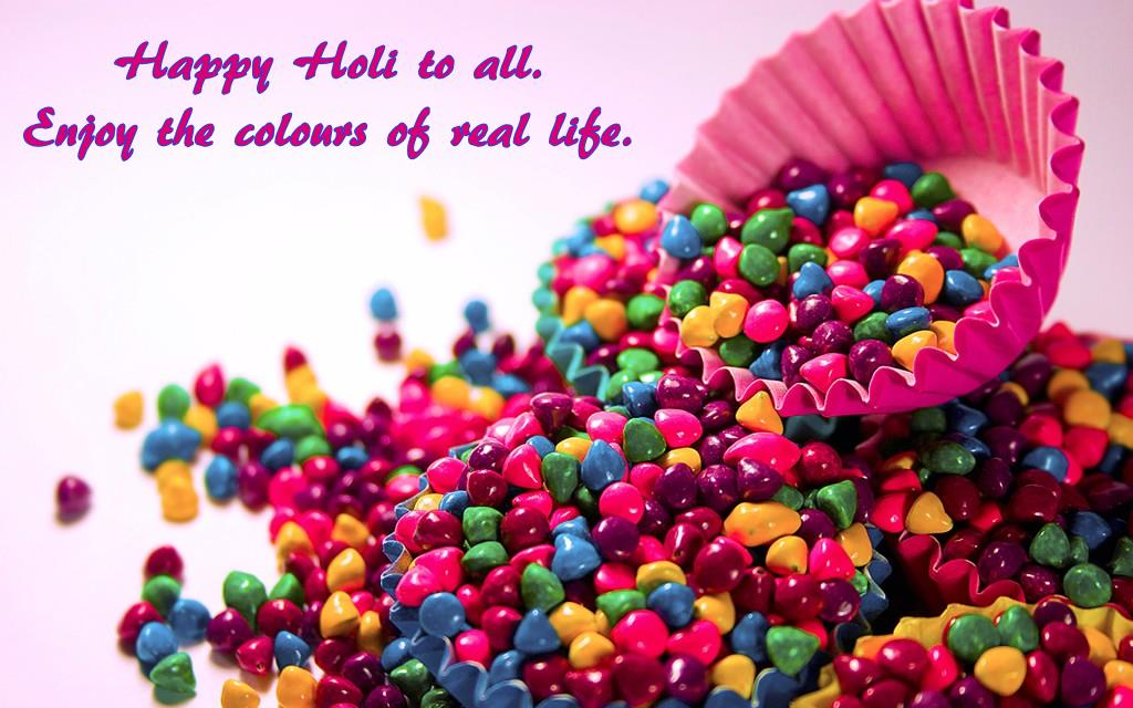 Happy Holi Wished Wallpaper Download