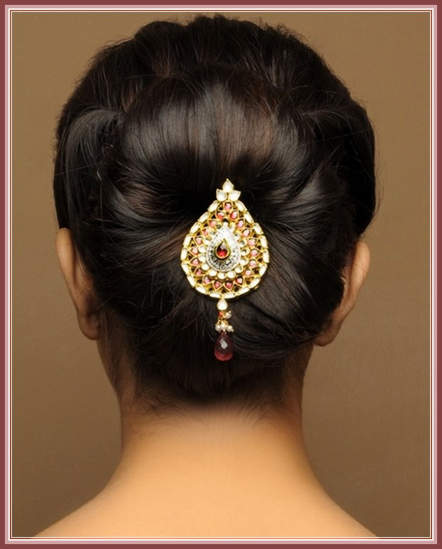 Latest Hairstyles For Indian Weddings: Indian-bridal-hairstyles-2015