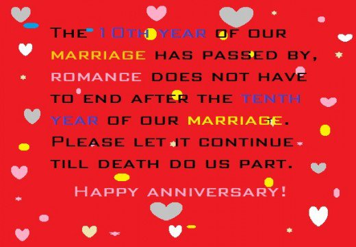 Hy 10th Anniversary Wishes From A Husband Its Evalicious