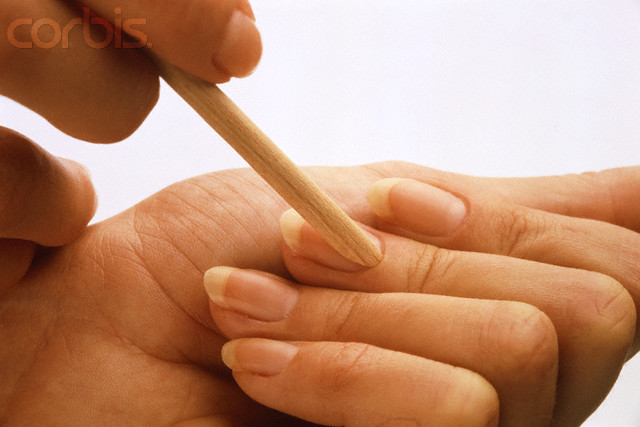 Cuticle removing for french manicure at home