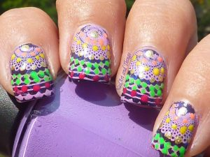 nail art for navratri 2015