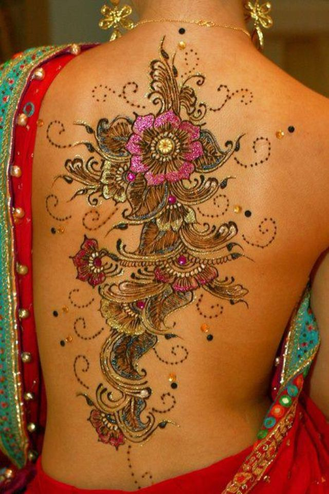 Back tattoo design for navratri