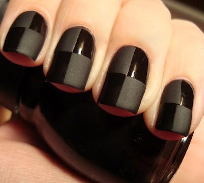 cool-Glossy-Matte-Nail-Art-Design