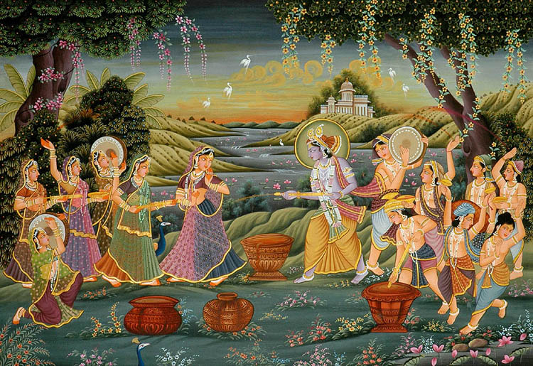 radha_and_krishna_play_holi_with_gopis