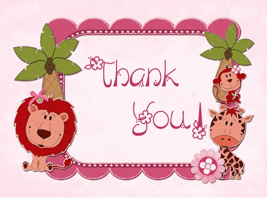 cute-jungle-girl-thank-you-card for birthday