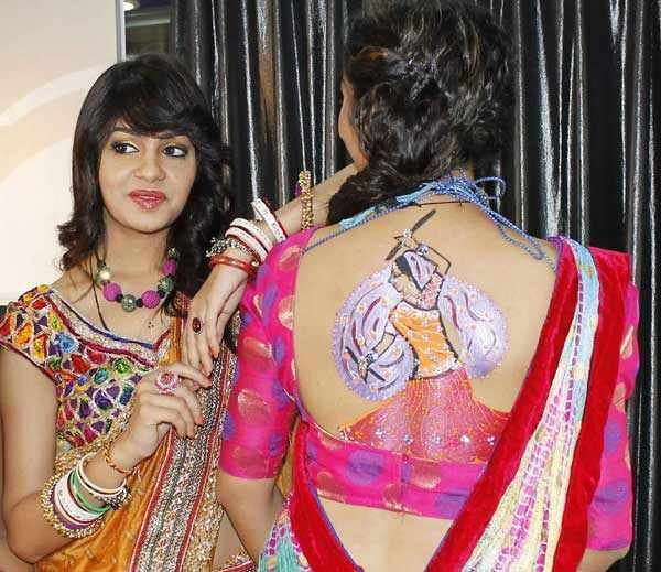 floral tattoo designs for navratri