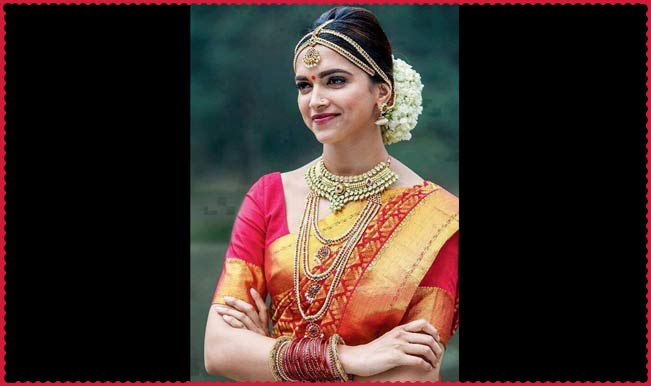 Deepika Padukone in south indian bridal look