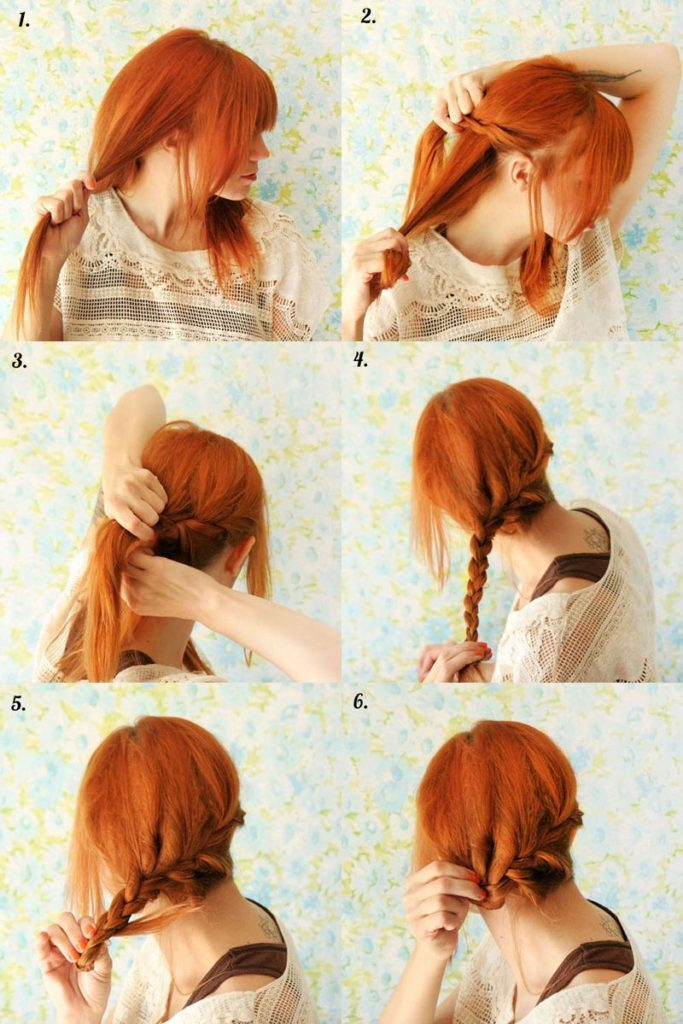 Blooming-Amber-of-Rolled-up-braid