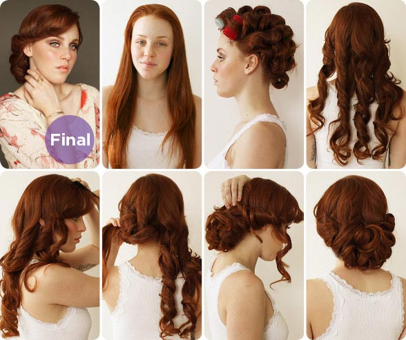 bridal hairstyle for long hair indian