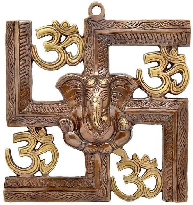 lord ganesha image with swastik