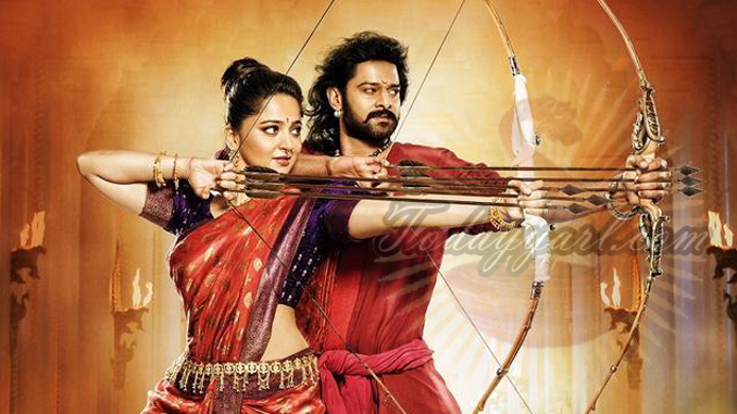 Baahubali Prabhas and Anushka Arrow shoot image
